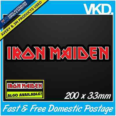 Iron Maiden Sticker/ Decal - Trooper Army Skull Band Music Hardcore Heavy Metal