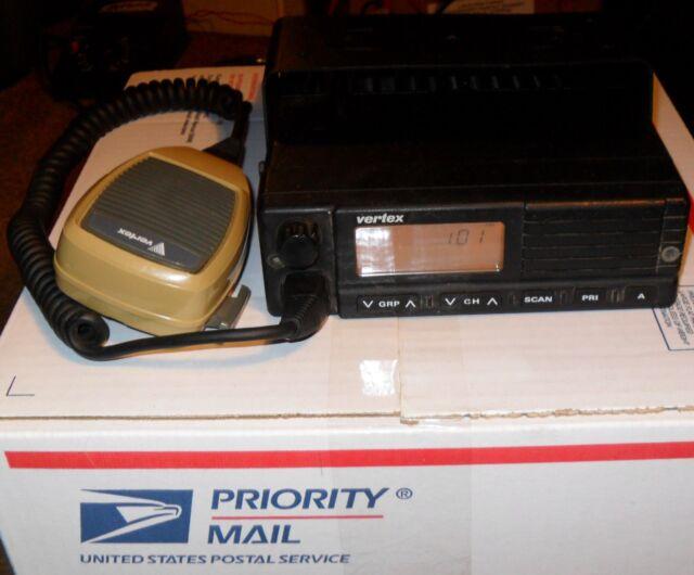 Vertex FTL-1011 VHF FM Ham Radio With Microphone! Powers On!