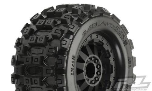 "2 Pro-Line 10125-14 Badlands MX28 2.8/"" Tires w//F-11 Nitro Rear Wheels Black"