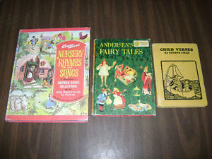 Details About Lot Of 3 Childrens Vintage Books Verses Fairy Tales Nursery Rhymes Songs