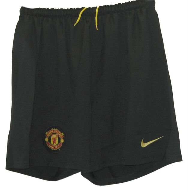 New NIKE MANCHESTER UNITED Football Club Goalkeeper Shorts Black (Mens) Medium