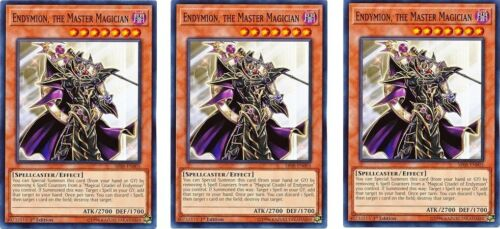 the Master Magician  SR08-EN005 Common 1st Ed  YUGIOH Cards 3 x Endymion