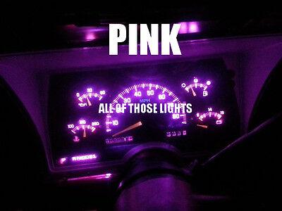 6 PINK T5 LED INSTRUMENT PANEL CLUSTER DASH LIGHT BULB 58 70 73 74