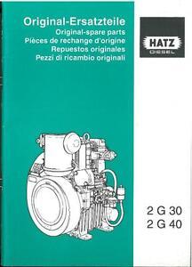 hatz diesel engine 2g30 2g40 parts manual 2 g 30 40 ebay. Black Bedroom Furniture Sets. Home Design Ideas