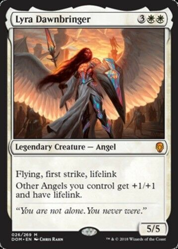 English Dominaria MTG Magic 1x Lyra Dawnbringer NM-Mint