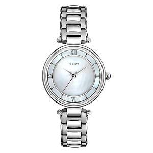 Bulova-Women-039-s-96L185-Mother-of-Pearl-Dial-Stainless-Steel-Bracelet-Watch