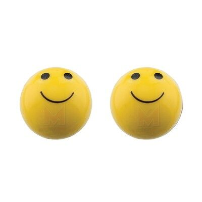YELLOW SMILEY FACE VALVE CAPS LOW RIDER BICYCLE CRUISER