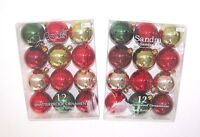 Sandra Lee Jacklyn Smith Christmas Ornament Round Shatter Proof Red Green Gold