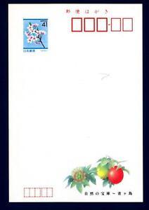 y 41 - 1991 - Fiori Intero Post Japan Giappone Saluti Di Stagione