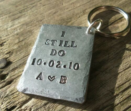 I STILL DO Anniversary Gift Husband Wife PERSONALISED Wedding 10th 10 Years Tin