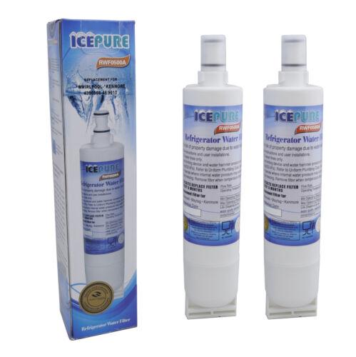 2 x Icepure Rfc0500a Vortice Sbs002 4396508 Filtro Acqua Frigorifero Compatibile