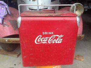 Vintage Metal Coca-Cola Cooler  Old Coca Cola Coolers