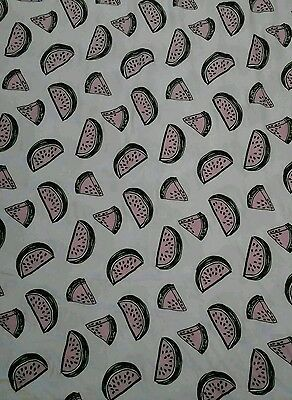 """WATER MELON Fruit Food Kitchen JERSEY LYCRA Stretch Fabric Material 60""""Width"""