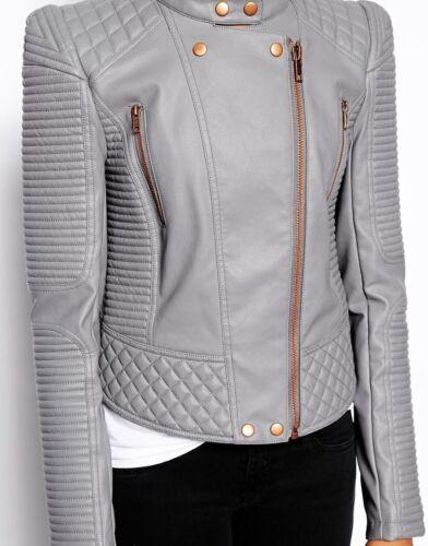 Soft ægte Kvinders læderjakke Fit 012 Slim mj Motorcycle lammeskind BBwtzqcT