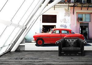 Photo Wallpaper Wall Mural Havana Cuba Old Car Large Size Retro