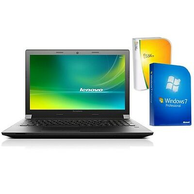 NOTEBOOK LENOVO B50 - QUAD CORE - 500GB HDD - WINDOWS 7 PRO + OFFICE - TFT MATT
