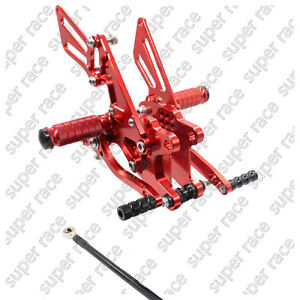 US For KAWASAKI ZX10R 2006-2007-2009-2010 CNC Rearsets Footpeg Footrests pedals