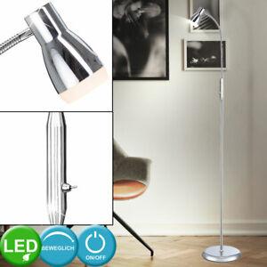 Cromo LED lámpara de pie lectura iluminación cuarto de invitados flexo spot lámpara flexible