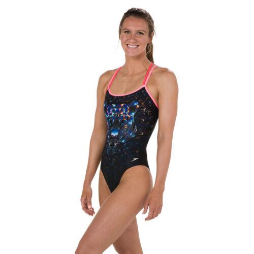 Speedo 8w da diamondize Swimsuit Girls C536 Costume nero bagno Flipturns Womens rwqOzxC4r