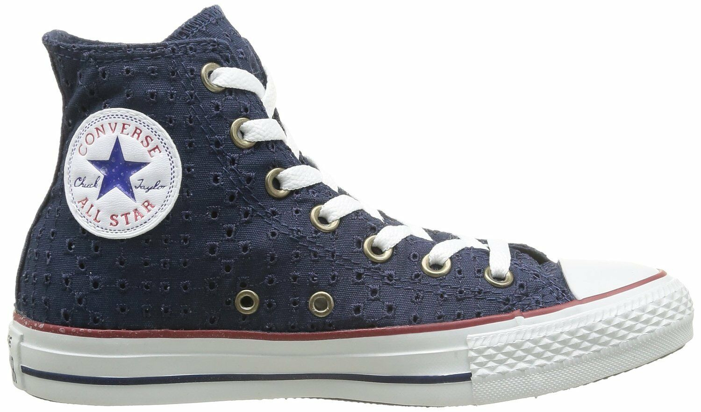 Converse All Star Hi Tops Azul Marino Con Ojales 542539 F JS078 DD 07