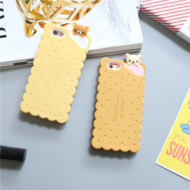 Cartoon Cute Rilakkuma Biscuit Bear Silicone Case Cover For I Phone 8 7 6 6 S Plus by Ebay Seller