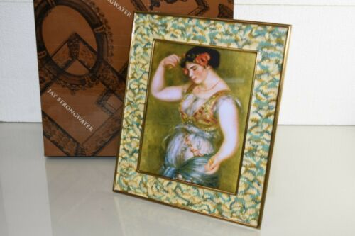 $995! NEW in Box JAY STRONGWATER ADRIAN ENAMEL PICTURE FRAME holds 8 x 12 photo