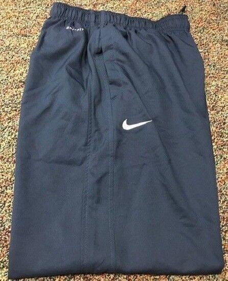 Nike Nike Nike Uomo Victor Pantaloni in Tessuto Blu Navy Bianco 100% Poliestere Nuovo 6ff3ee