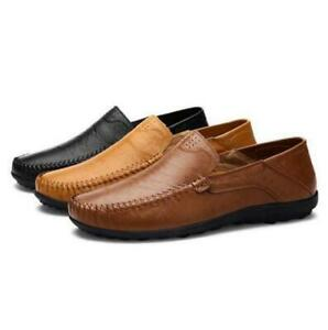 New-Men-Driving-Casual-Boat-Shoes-Leather-Flat-Shoes-Moccasin-Slip-On-Loafers