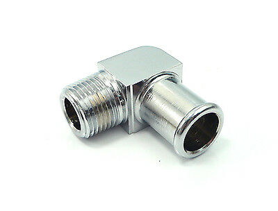 "GAR-769HHB10X6 Chrome 5/8"" Hose To 3/8"" NPT Heater Hose Pipe Fitting 90 Degree"