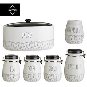Cafe-the-heartlines-sucre-canister-pain-bin-biscuit-utensit-stockage-jar