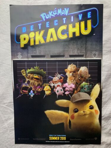 Pokemon Detective Pikachu 2019 MOVIE PROMO Poster /& Psyduck Card Target Limited