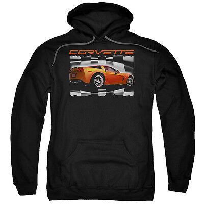 CHEVY ORANGE Z06 CORVETTE Licensed Pullover Hooded Sweatshirt Hoodie SM-5XL