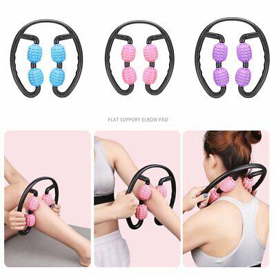 Muscle Relaxer Massage Roller Arm Leg Clamp Waist Massager Stick Yoga Fitness