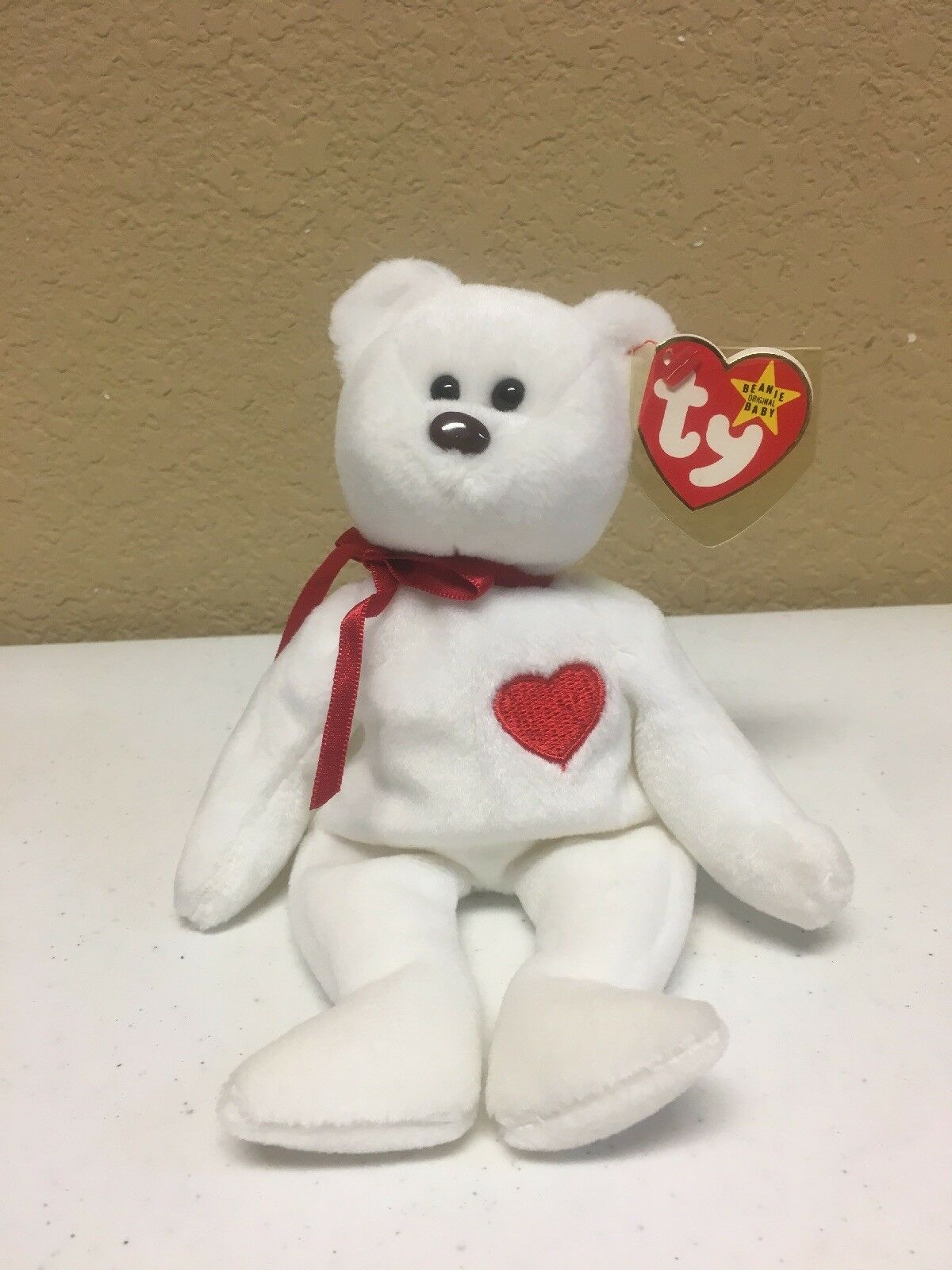 VALENTINO 1993 TY Beanie Baby Brown Nose Nose Nose  PVC Rare Collectible   8df66c
