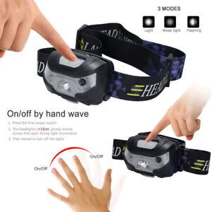 Pro Usb Rechargeable Sensor Head Torch Light Waterproof