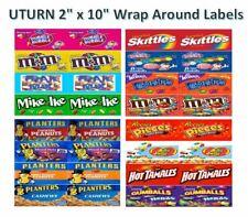 4 Uturn 2 X 10 Vinyl Peel Amp Stick Candy Vending Labels Stickers