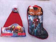 Iron Man Christmas Stocking and Hat ~Marvel~NWTs~Retails $22.98