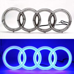 Blue Car Led Grille Front Logo Emblem Cold Light For Audi A1 A3 A4 A5 S3 A6