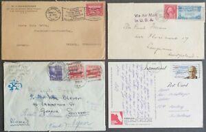 Estados unidos-EE. UU. - Stati Uniti: 4 documentos justificativos de 1914-1989