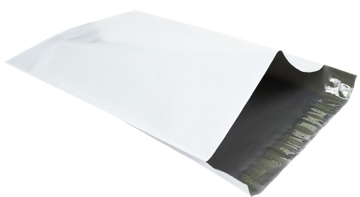 24 x 24 Poly Mailers Self Seal Shipping Mailing Envelopes Bags White Pack of 100