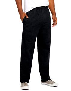 2-PACK-Hanes-ComfortSoft-EcoSmart-Men-039-s-Fleece-Sweatpants-w-Pockets-Black-2XL