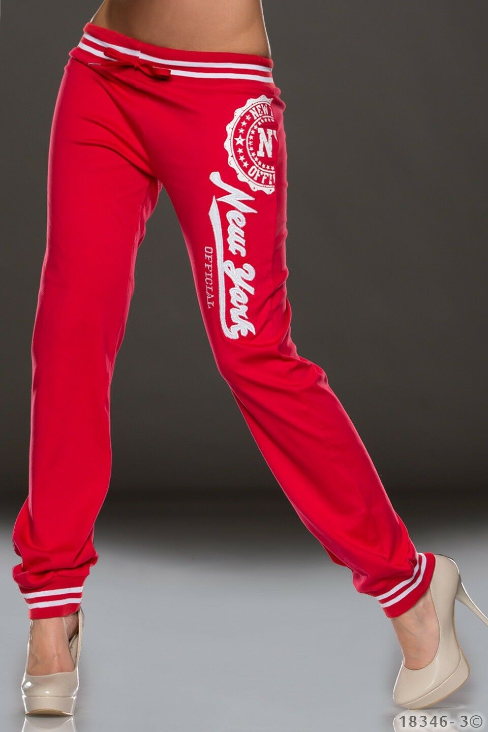NEW SEXY New York Cotton Sweat Pants SPORTS COLLEGIATE STYLE SIZE 6 8 10 12 14