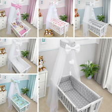 CRIB BABY BEDDING SET CRADLE PILLOW DUVET CANOPY COVER BUMPER FIT TO 90x40 CRIB