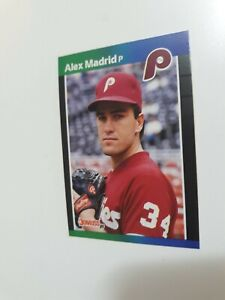 AUTHENTIC & VERY RARE ERROR CARD! 1989 Donruss Alex Madrid Baseball Card #604