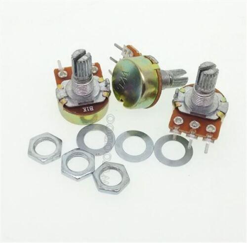2Pcs 1K Ohm Linear Taper Rotary Potentiometer Panel Pot B1K 15Mm ow
