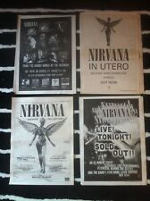 NIRVANA - COPY OF ADVERT / SMALL POSTER in utero LIVE 1994 from the muddy banks