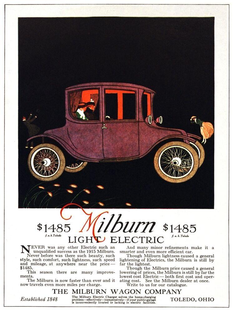 5048.The milburn wagon.light electric vintage car.POSTER cor Home Office art
