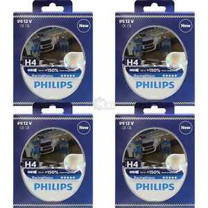 4x-Philips-Racing-Vision-H4-12V-60-55W-P43t-150-2-Stueck-Set-Birne-12342RVS2
