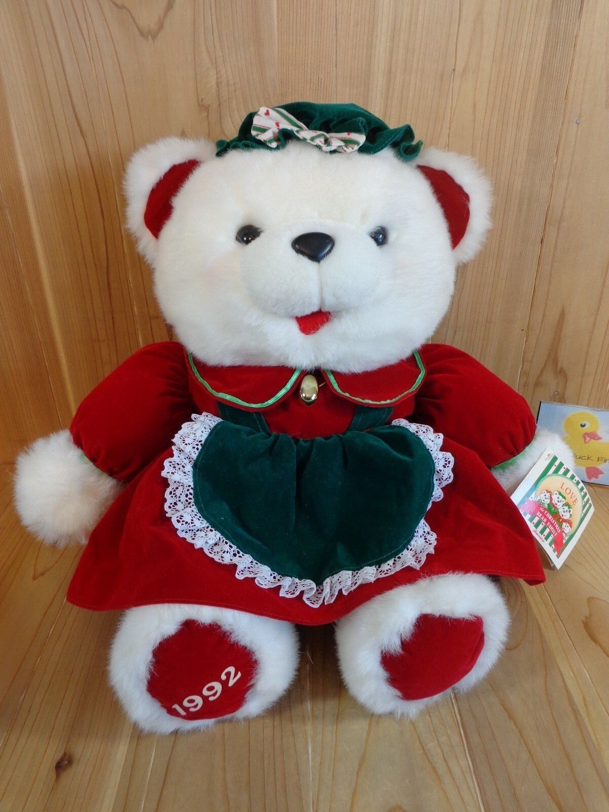 Vintage 1992 Kmart White Christmas Plush Girl Teddy Bear Bear Family ...