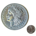 New Jumbo Giant Metal Production Magic Coin Trick US Morgan Silver Dollar